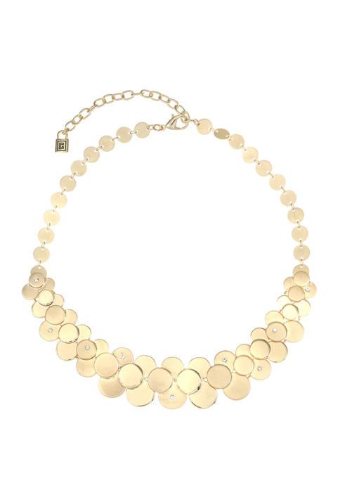 Chaps Gold Tone Large Collar Necklace
