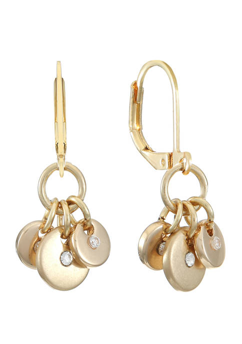 Gold Tone Small Shaky Drop Earrings