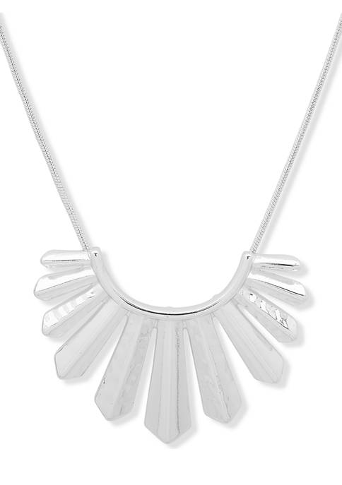 Silver Tone 28 Inch Long Pendant Necklace