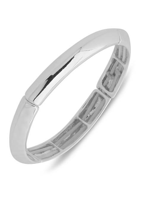 Silver Tone Small Stretch Bracelet