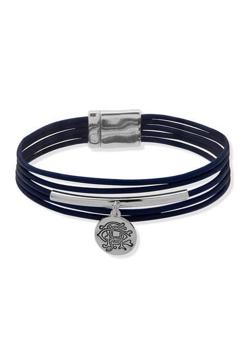 Chaps Two Tone Magnetic Wrap Bracelet