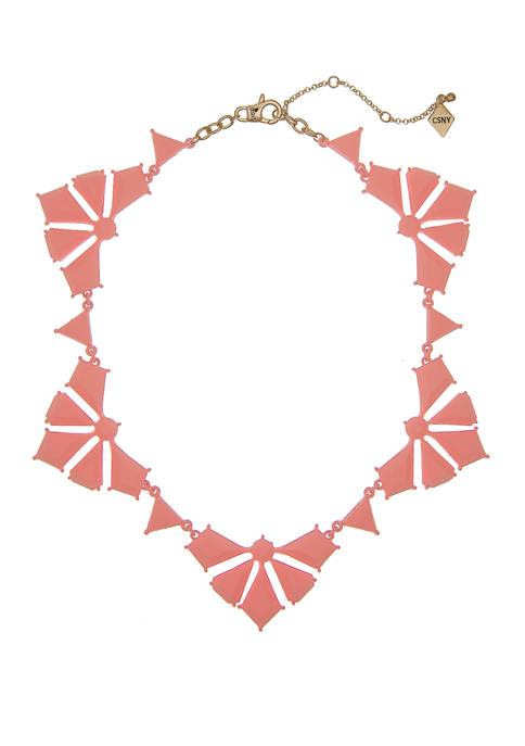 Pink Collar Statement Necklace