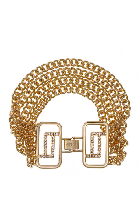 Christian Siriano Gold Tone Chain Link Bracelet with