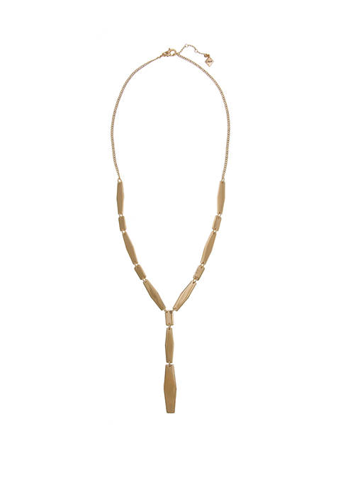 Gold Tone Y Necklace