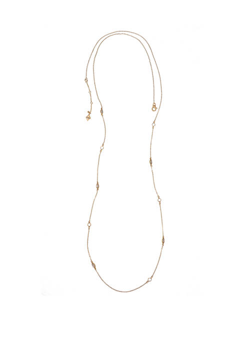 Christian Siriano Gold Tone Long Chain Necklace with
