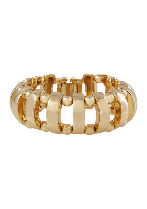 Gold Tone Link Bracelet with Clasp