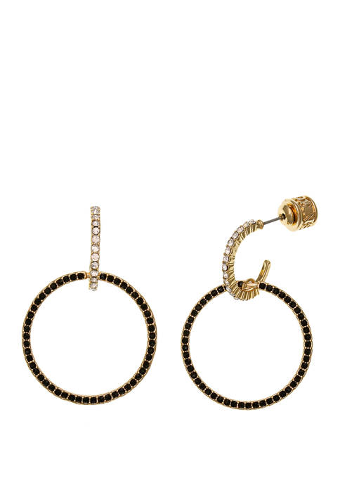 Christian Siriano Gold Tone Post Hoop Earrings with