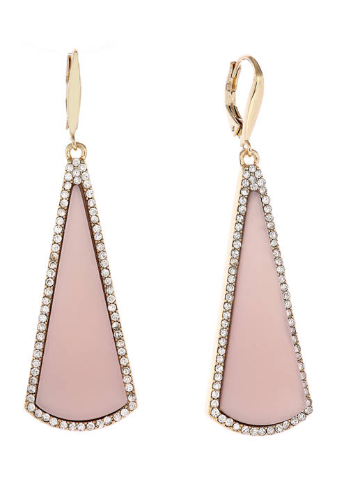 Christian Siriano Gold Tone and Pink Linear Drop