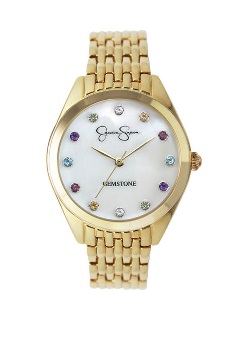 Jessica Simpson Womens Gold Tone Genuine Rainbow Gemstone