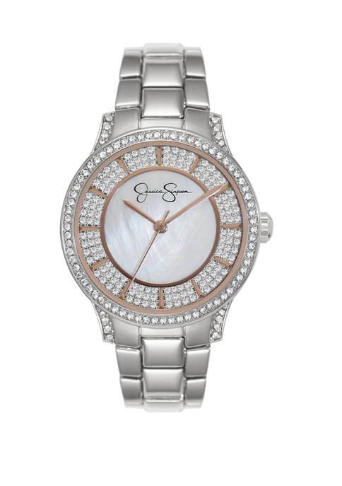 Silver Tone Crystal Encrusted Watch