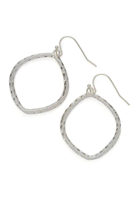 Silver-Tone Texture Earrings
