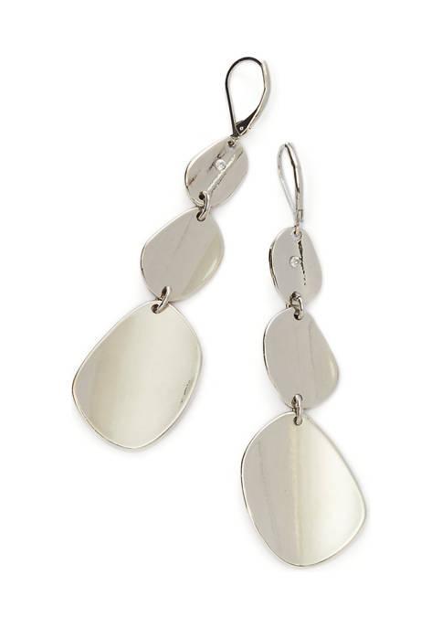 Linear Disc Drop Earrings
