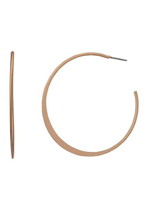 Belk Gold Tone Post Hoop Earrings