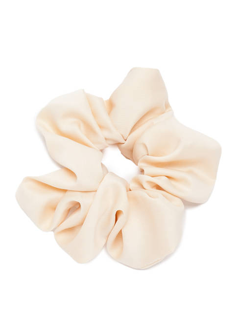 Kaari Blue™ Satin Ivory Hair Scrunchie