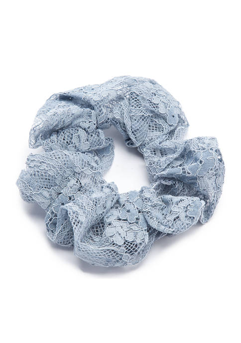 Kaari Blue™ Light Blue Lace Overlay Scrunchie