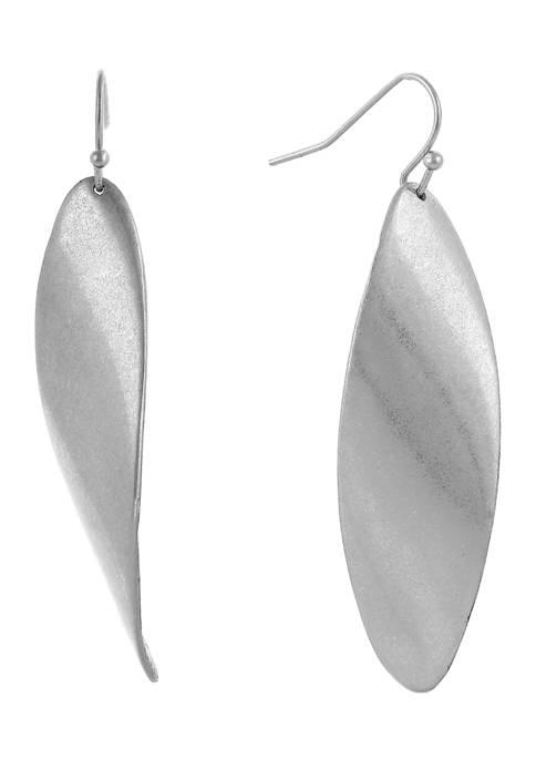 Lnear Navette Earrings