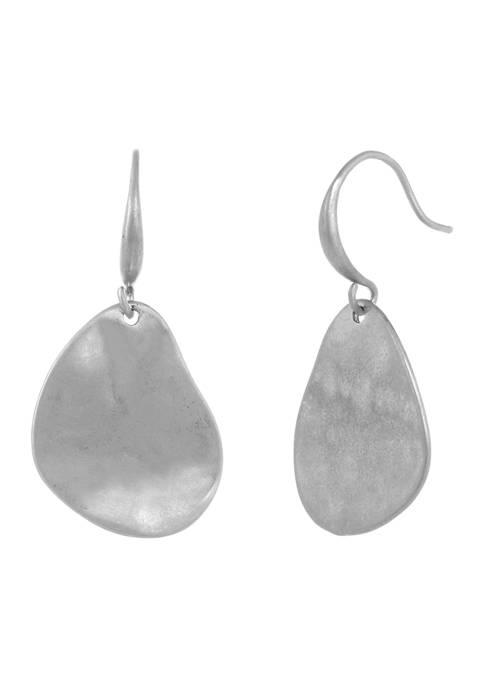 Silver Tone Small Teardrop Earrings