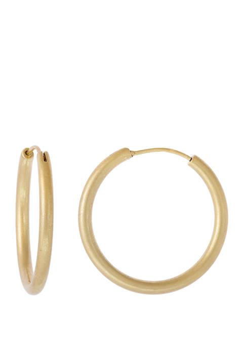 Gold Tone Small Hoop Earrings