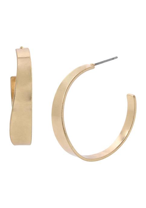Curved Hoop Earrings