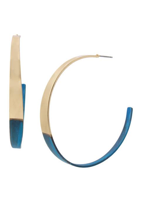 Patina Curved Hoop Earrings