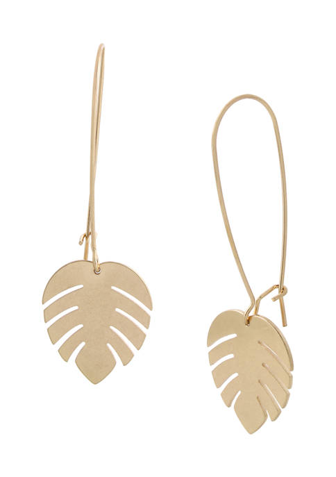 Palm Leaf Dangle Earrings
