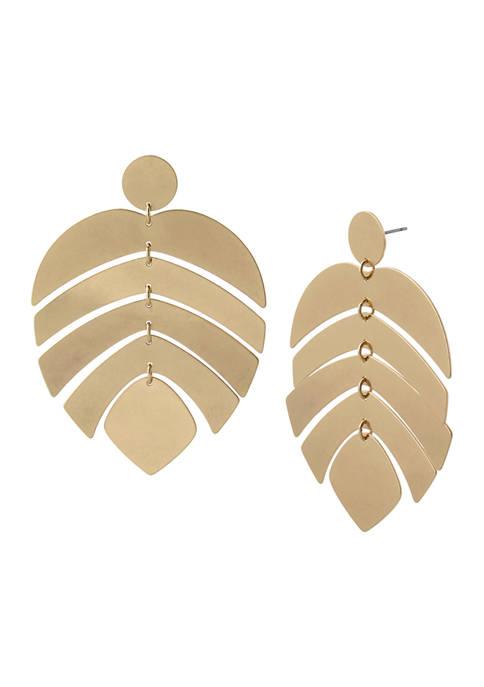 Robert Lee Morris Soho Palm Leaf Statement Earrings