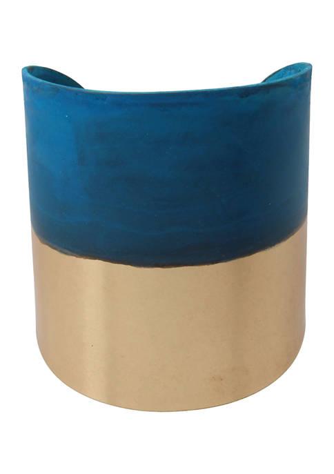 Patina Wide Cuff Bracelet