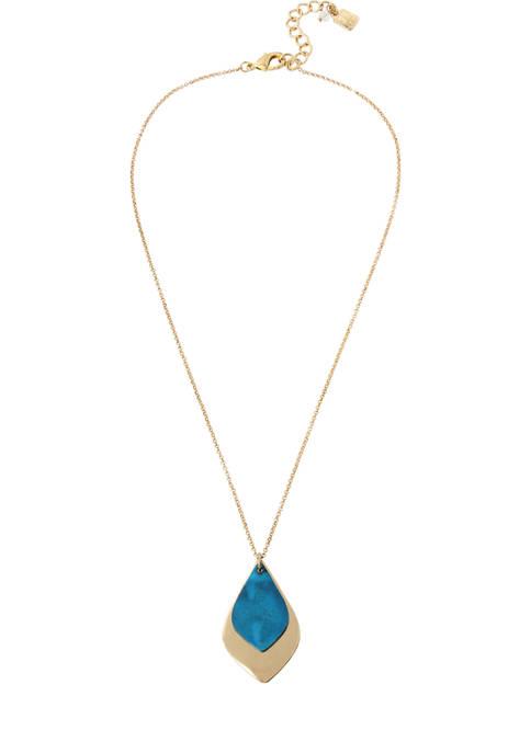 Patina Layered Pendant Necklace