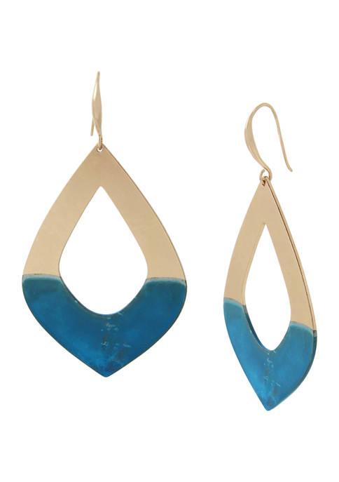 Patina Open Drop Earrings