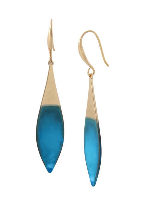 Patina Leaf Drop Earrings