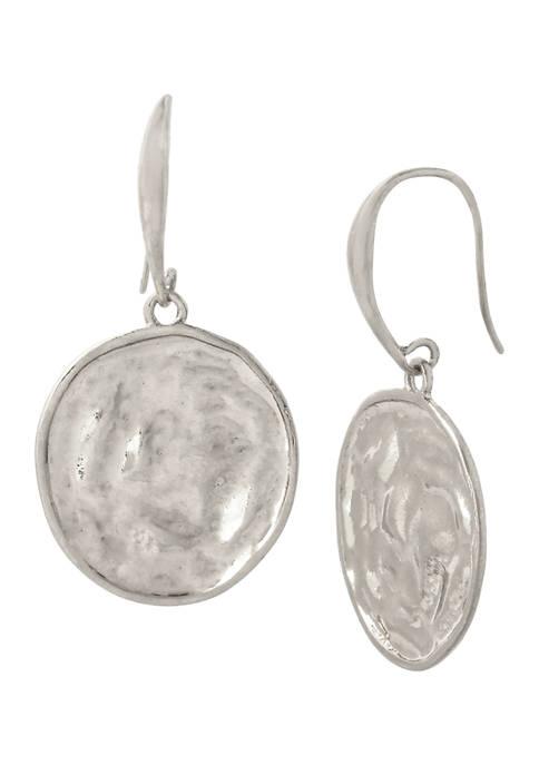Robert Lee Morris Soho Molten Coin Drop Earrings