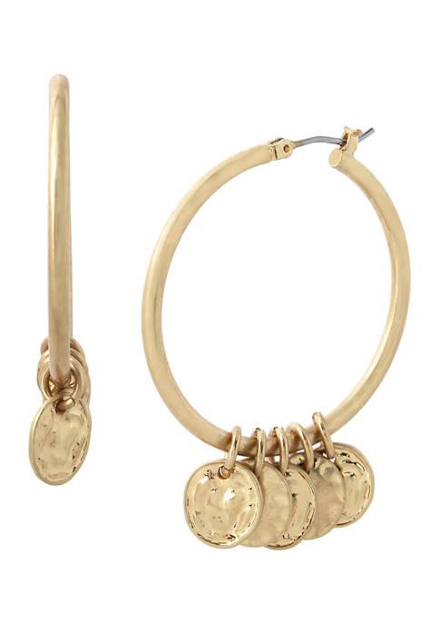 Shaky Coin Hoop Earrings