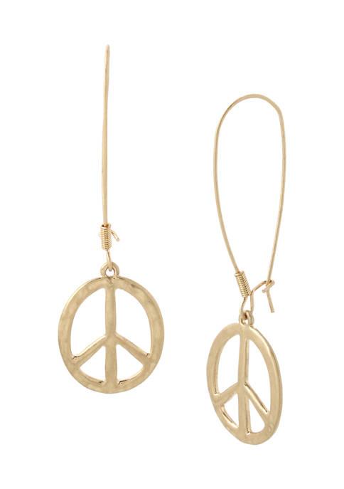 Peace Sign Dangle Earrings