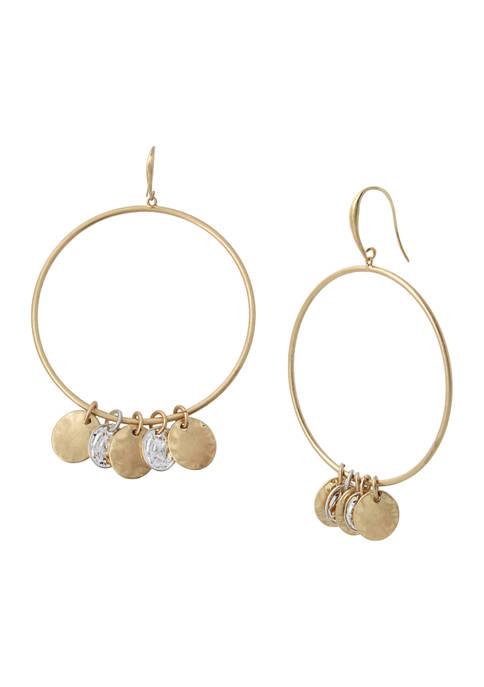 Shaky Coin Gypsy Hoop Earrings