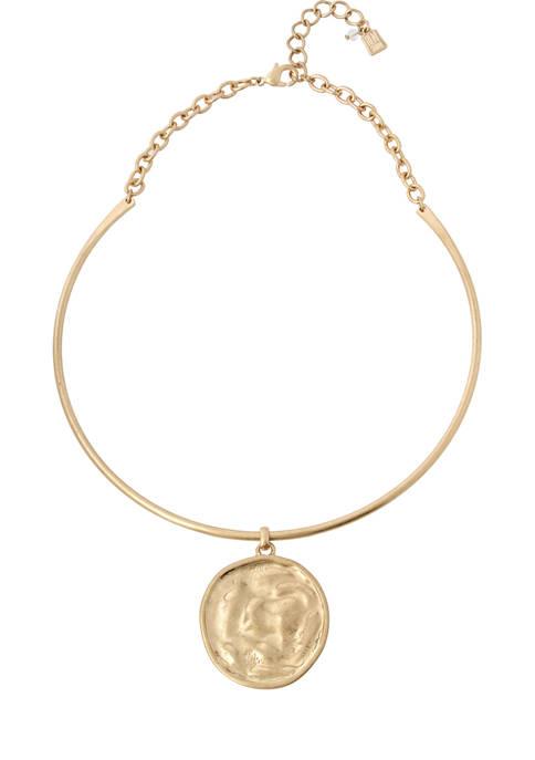 Coin Pendant Collar Necklace
