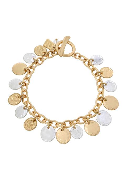 Shaky Coin Charm Bracelet