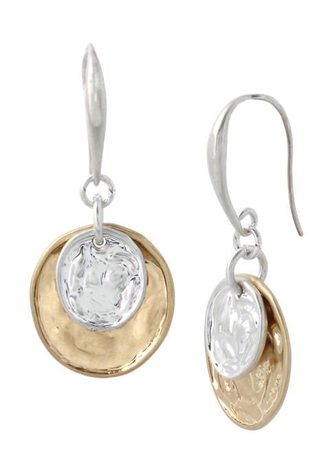 Layered Coin Drop Earrings
