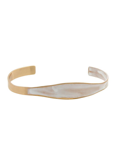 Patina Asymmetrical Cuff Bracelet