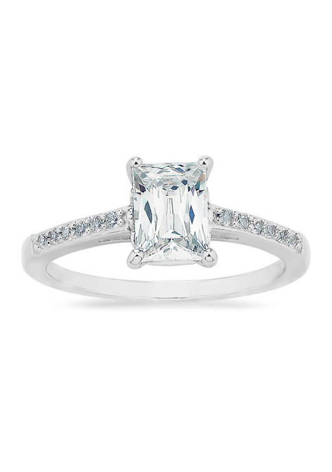 Forever New Baguette and Round Cubic Zirconia Ring