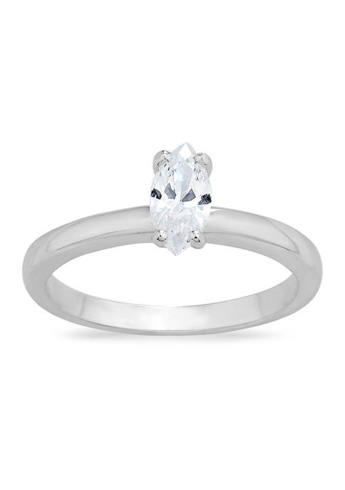 Forever New Marquis Solitaire Cubic Zirconia Ring in