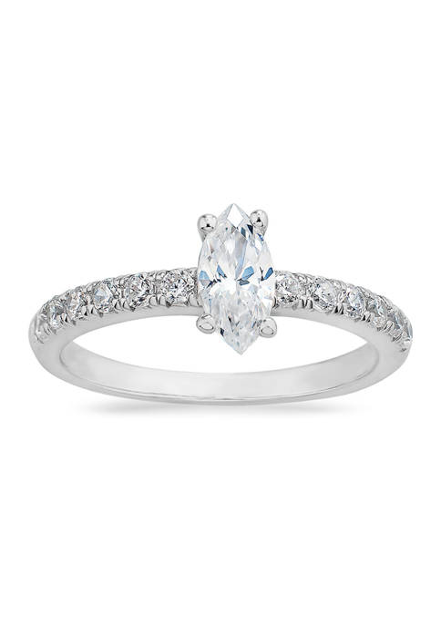 Forever New Marquis CZ Ring in Sterling Silver