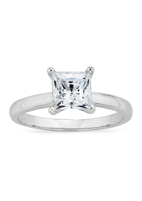 Forever New featuring Swarovski Zirconia Square CZ Solitaire