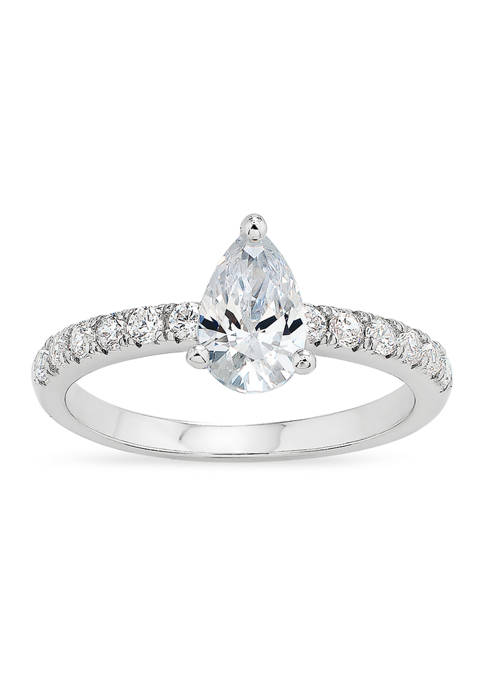 Forever New Pear Cubic Zirconia Ring in Sterling