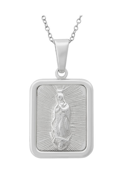 Designs by Helen Andrews 18-Inch Sterling Silver Rectangle