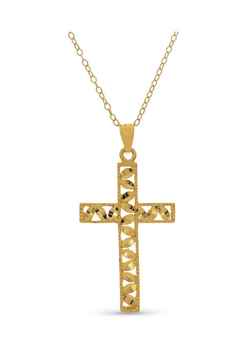 Designs by Helen Andrews 18-Inch 14K Gold-Plated Sterling