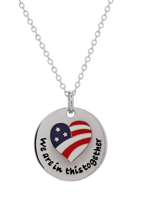 """Designs by Helen Andrews Sterling Silver """"We Are"""