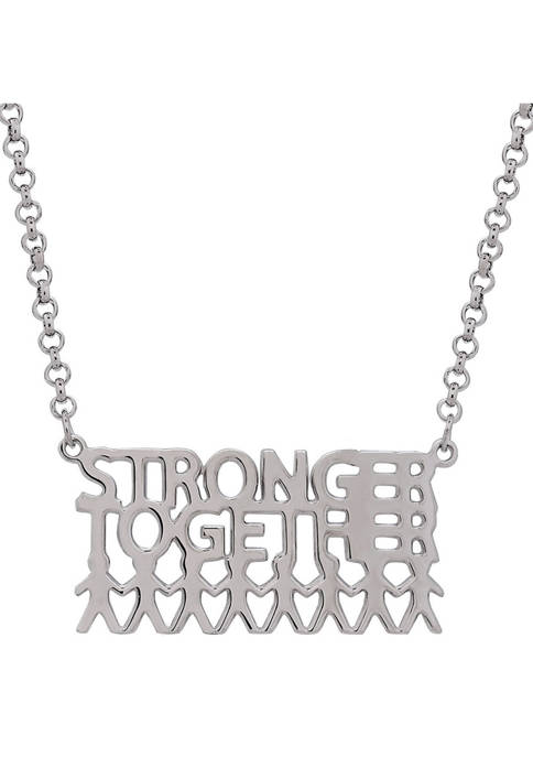 """Designs by Helen Andrews Sterling Silver """"Stronger"""
