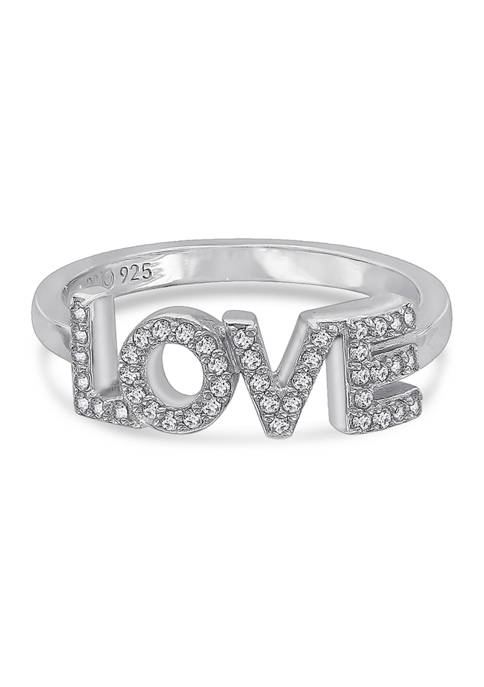 Peace Love World I Love Myself Ring, Sterling