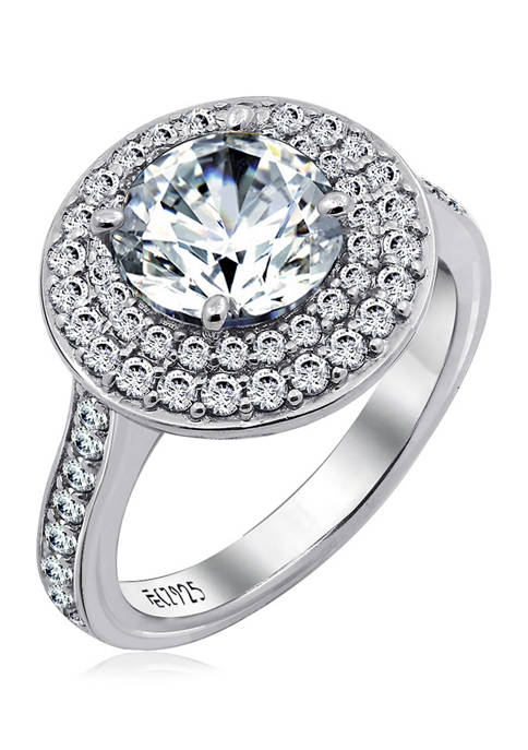 KIERA 3 ct. t.w. Cubic Zirconia Rhodium Plated
