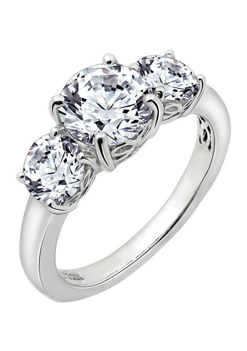 J'admire Platinum Plated Sterling Silver 3 ct. t.w.